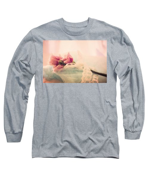 Long Sleeve T-Shirt featuring the photograph Roses And Lace by Lana Trussell