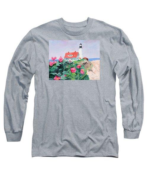 Roses At Portland Headlight Long Sleeve T-Shirt