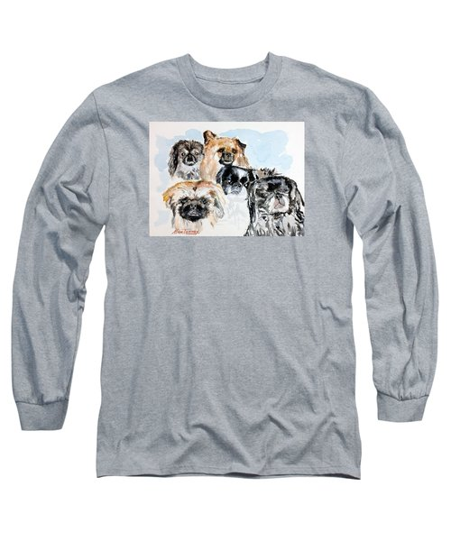 Rose's Pekingese Long Sleeve T-Shirt by Stan Tenney