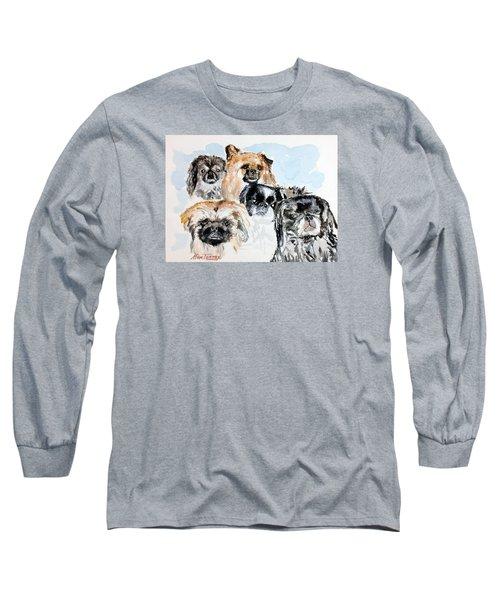 Rose's Pekingese Long Sleeve T-Shirt