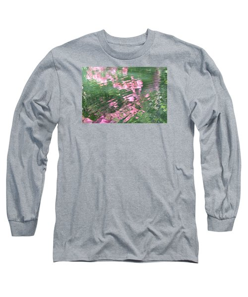 Rosey Ripples Long Sleeve T-Shirt by Linda Geiger