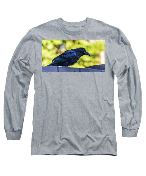 Long Sleeve T-Shirt featuring the photograph Rough Crow  by Jonny D