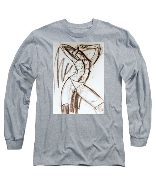 Long Sleeve T-Shirt featuring the drawing Rough  by Jarko Aka Lui Grande