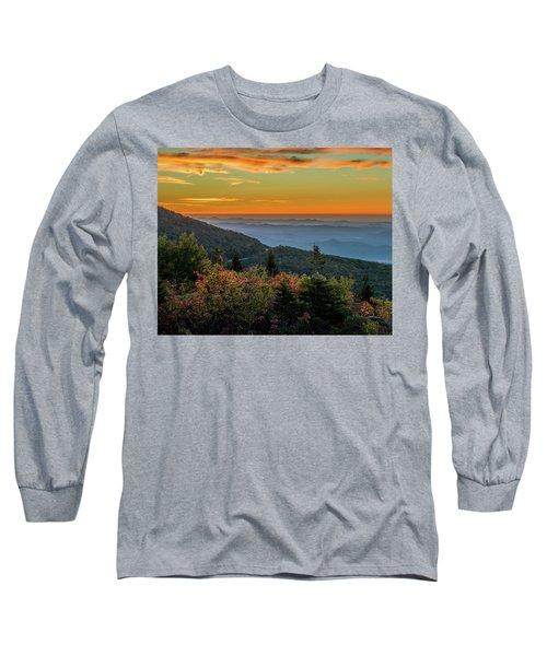 Rough Morning - Blue Ridge Parkway Sunrise Long Sleeve T-Shirt