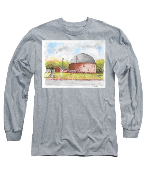Round Barn In Route 66, Arcadia, Oklahoma Long Sleeve T-Shirt