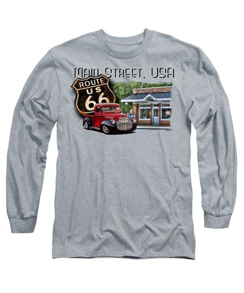 Route 66 Chevy At The Station Long Sleeve T-Shirt