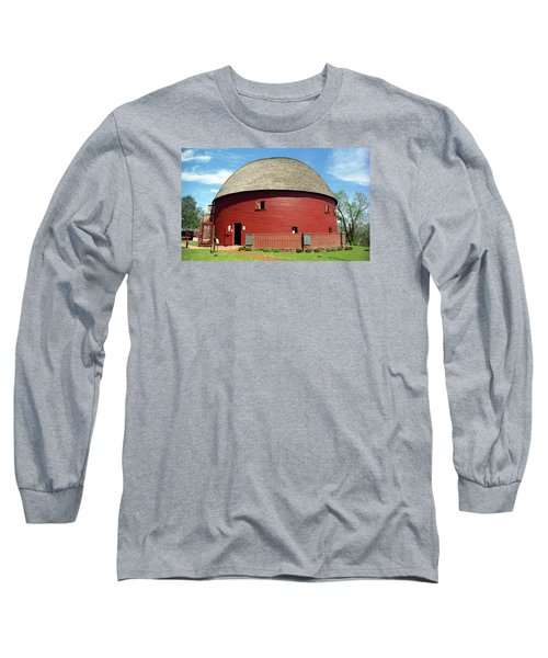 Route 66 - Round Barn Long Sleeve T-Shirt by Frank Romeo