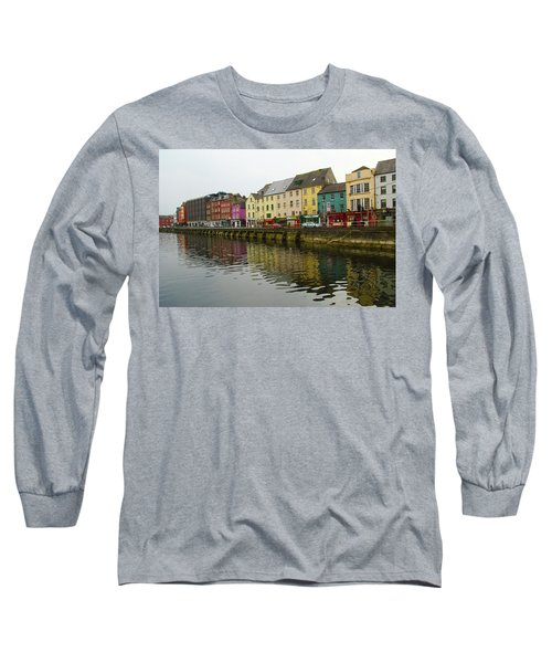 Row Homes On The River Lee, Cork, Ireland Long Sleeve T-Shirt