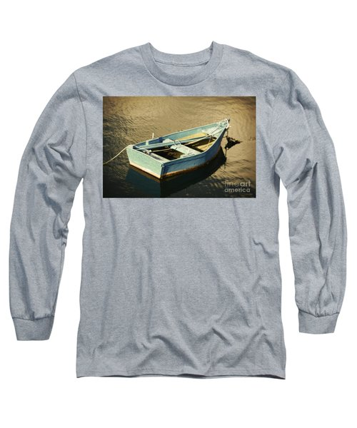 Rowboat At Twilight Long Sleeve T-Shirt by Mary Machare