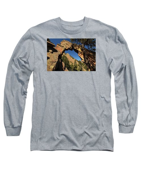 Royal Arch Trail Arch Boulder Colorado Long Sleeve T-Shirt