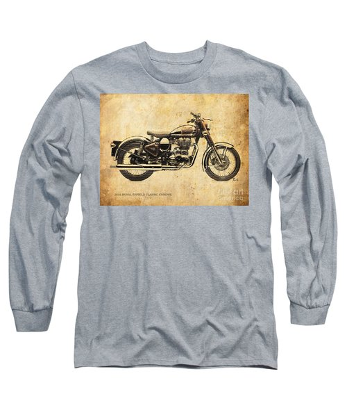 Royal Enfield Classic Chrome 2016, Poster For Men Cave Long Sleeve T-Shirt
