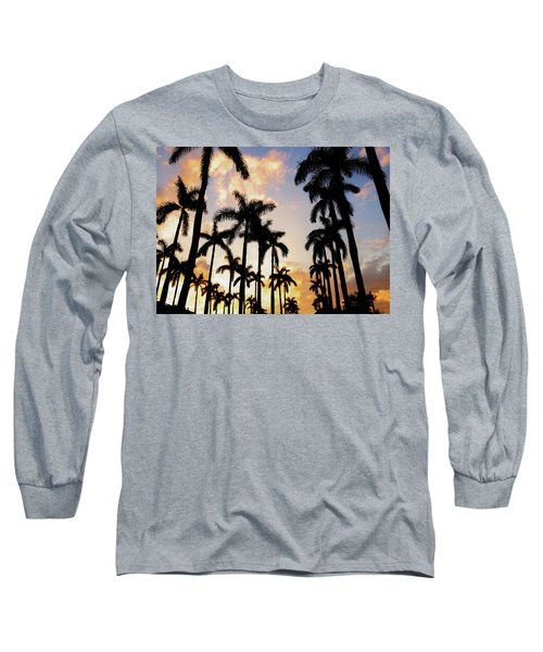 Royal Palm Way Long Sleeve T-Shirt by Josy Cue