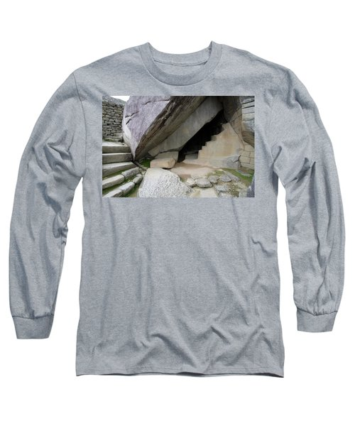 Long Sleeve T-Shirt featuring the photograph Royal Tomb, Machu Picchu, Peru by Aidan Moran