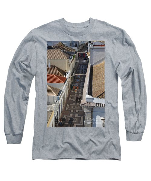 Rua Do Crime In Faro Long Sleeve T-Shirt by Angelo DeVal