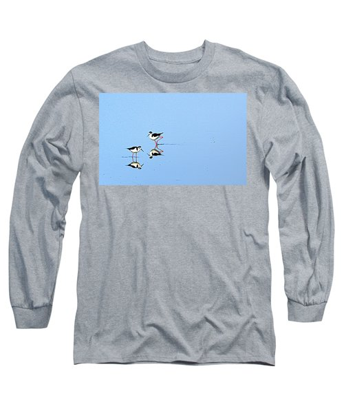 Long Sleeve T-Shirt featuring the photograph Rubber Legs by AJ Schibig