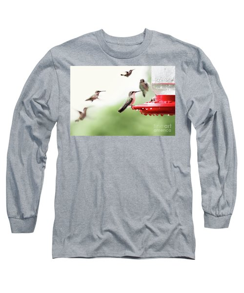 Long Sleeve T-Shirt featuring the photograph Ruby-throated Hummingbirds by Stephanie Frey