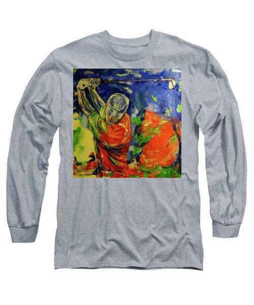 Rueckschwung   Backswing Long Sleeve T-Shirt by Koro Arandia