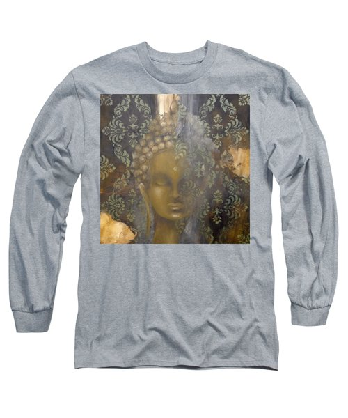 Ruined Palace Buddha Long Sleeve T-Shirt by Dina Dargo