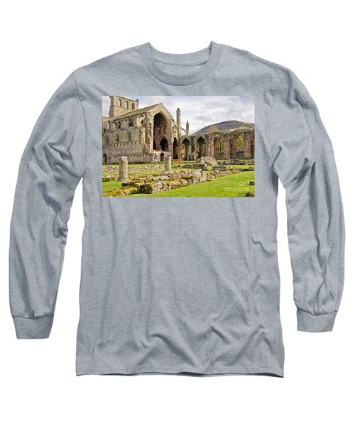 Ruins. Melrose Abbey. Long Sleeve T-Shirt