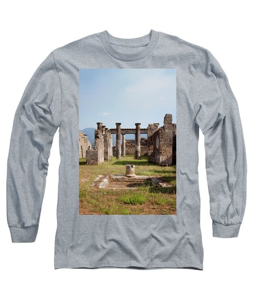 Ruins Of Pompeii Long Sleeve T-Shirt by Ivete Basso Photography