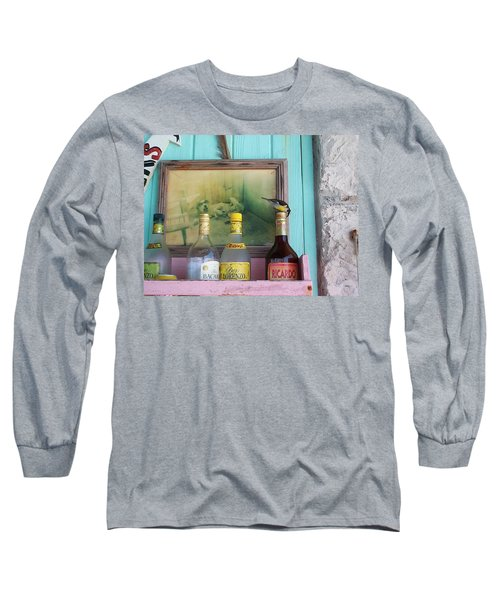 Long Sleeve T-Shirt featuring the photograph Rum Shack Bananaquit by Mary-Lee Sanders