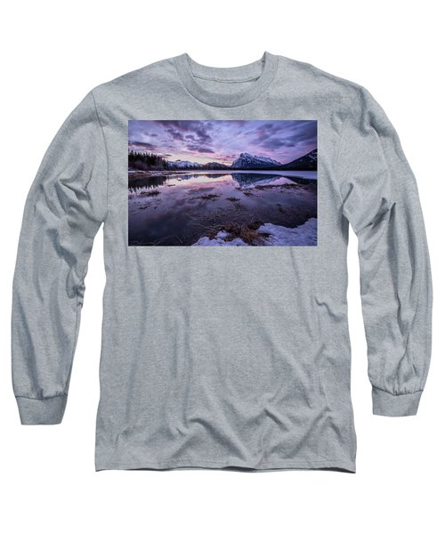 Rundle Mountain Skies Long Sleeve T-Shirt