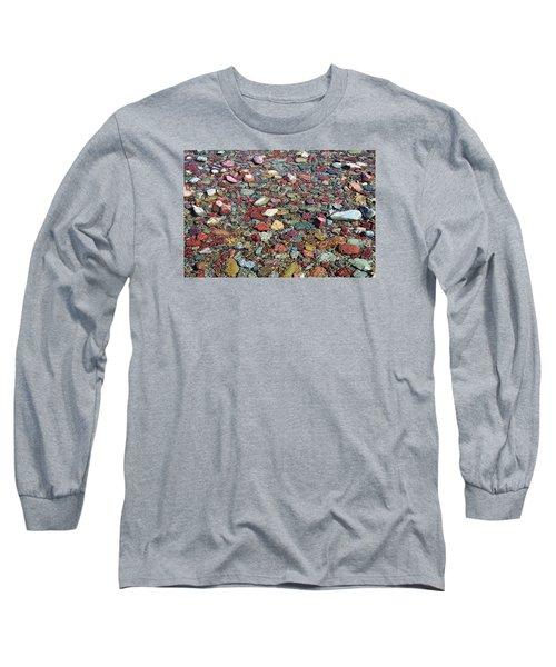Running Eagle Falls 2 Long Sleeve T-Shirt by Dacia Doroff