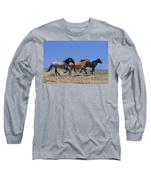 Running Free- Wild Horses Long Sleeve T-Shirt