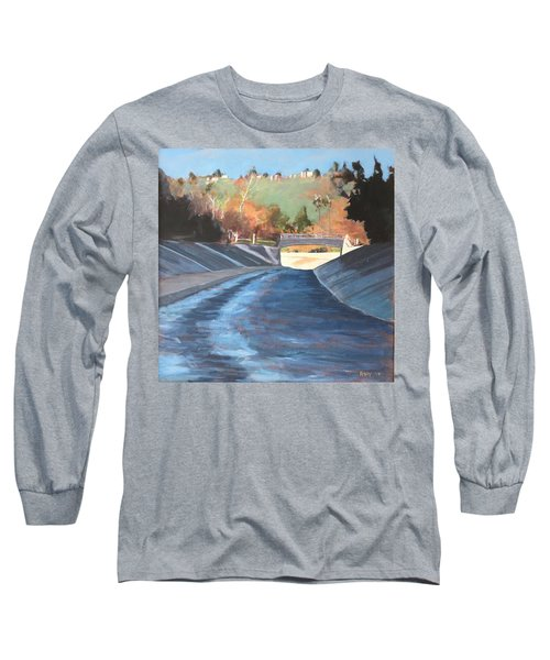 Running The Arroyo, Wet Long Sleeve T-Shirt by Richard Willson