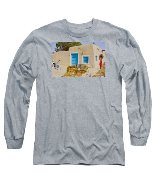 Rural Life  Long Sleeve T-Shirt by Manjot Singh Sachdeva