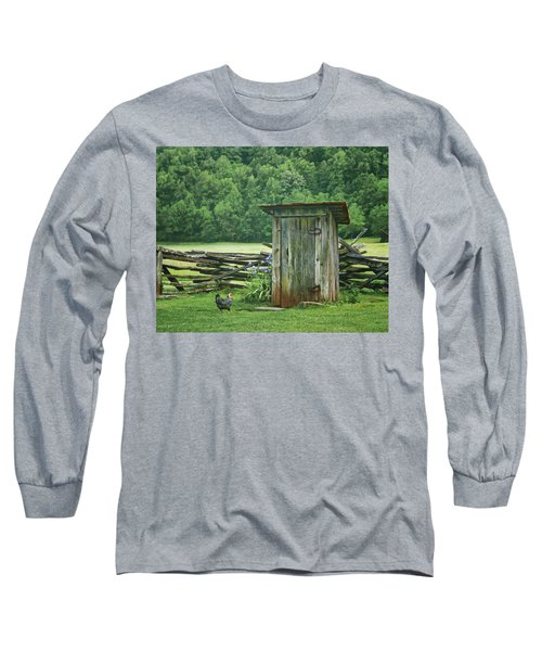 Rural Outhouse Long Sleeve T-Shirt