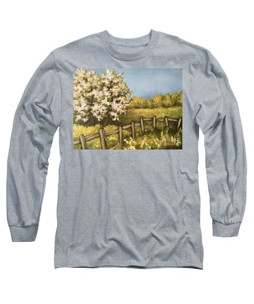 Long Sleeve T-Shirt featuring the painting Rural Spring by Inese Poga