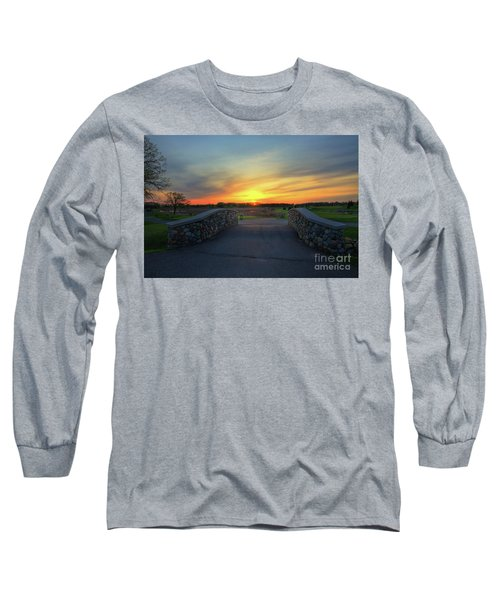 Rush Creek Golf Course The Bridge To Sunset Long Sleeve T-Shirt