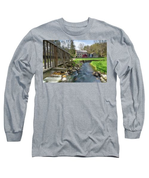 Rushing Water At The Grist Mill Long Sleeve T-Shirt