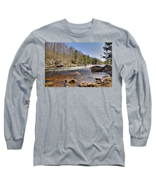 Long Sleeve T-Shirt featuring the photograph Rushing Waters Of The Moose River by David Patterson