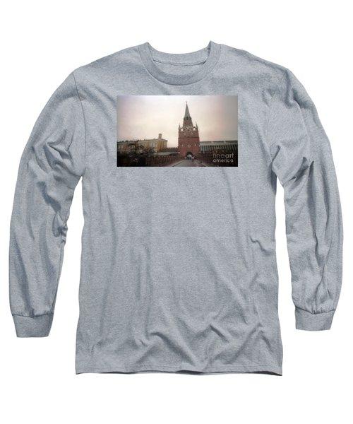 Russia Kremlin Entrance  Long Sleeve T-Shirt by Ted Pollard