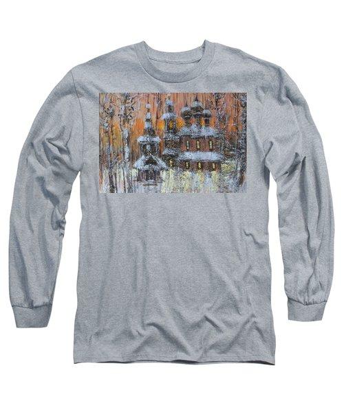 Russian Church Under Snow Long Sleeve T-Shirt