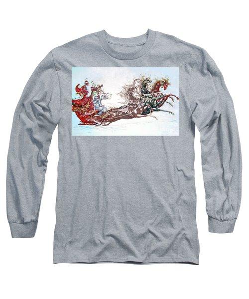 Russian Symbols Of New Year Long Sleeve T-Shirt