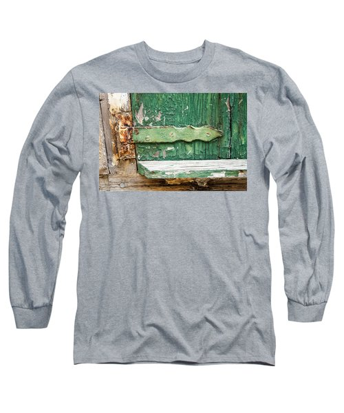 Long Sleeve T-Shirt featuring the photograph Rust And Paint by Allen Carroll