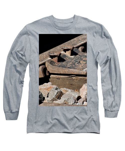 Long Sleeve T-Shirt featuring the photograph Rusted Rail by Colleen Coccia