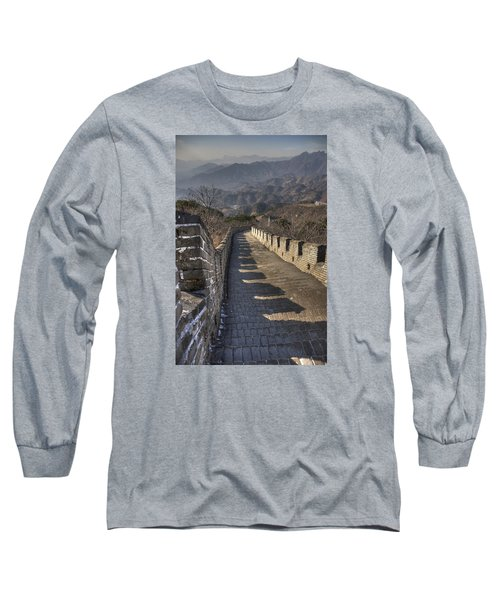 Rusti  Great Wall Hdr Long Sleeve T-Shirt by Matthew Bamberg