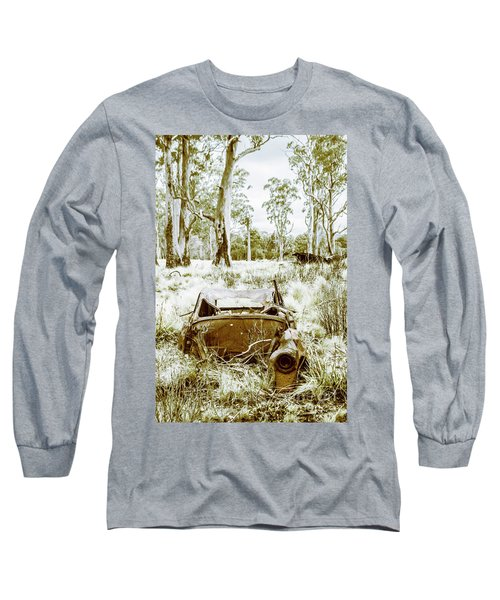 Rustic Australian Car Landscape Long Sleeve T-Shirt