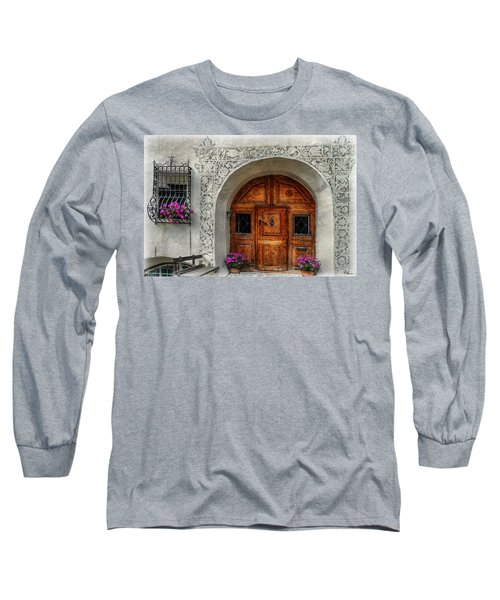 Rustic Front Door Long Sleeve T-Shirt by Hanny Heim