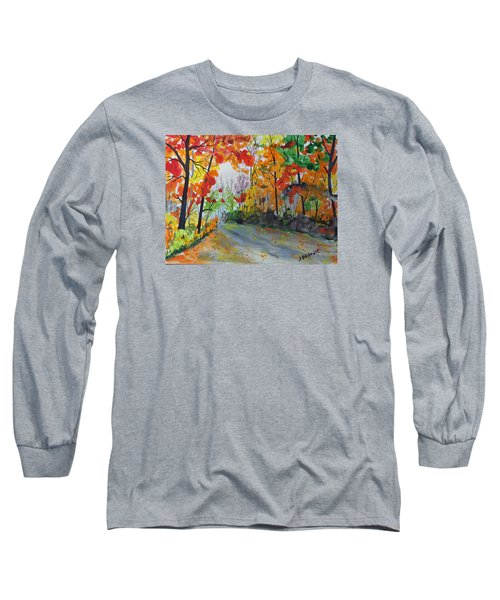 Long Sleeve T-Shirt featuring the painting Rustic Road by Jack G  Brauer