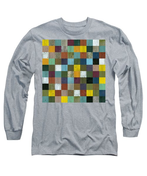 Rustic Wooden Abstract 100 Long Sleeve T-Shirt