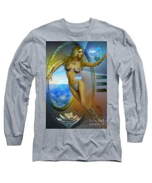 Long Sleeve T-Shirt featuring the digital art Sacred Feminine by Shadowlea Is