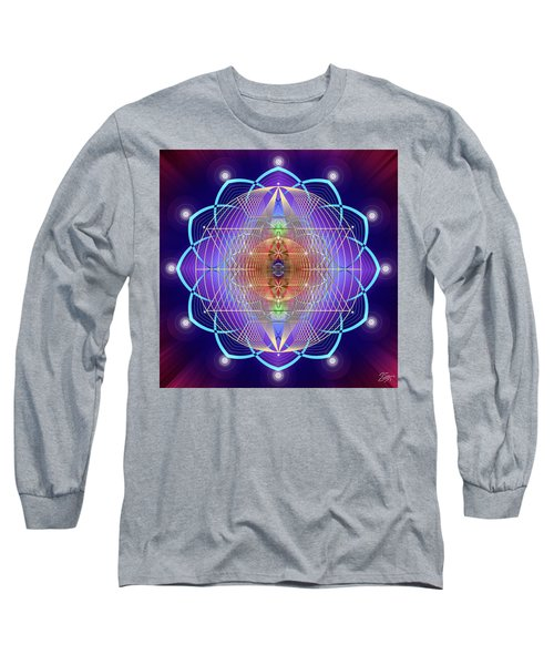 Sacred Geometry 641 Long Sleeve T-Shirt by Endre Balogh