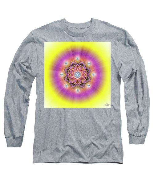 Sacred Geometry 643 Long Sleeve T-Shirt by Endre Balogh