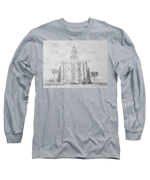 Sacred Steps - St. George Temple Long Sleeve T-Shirt