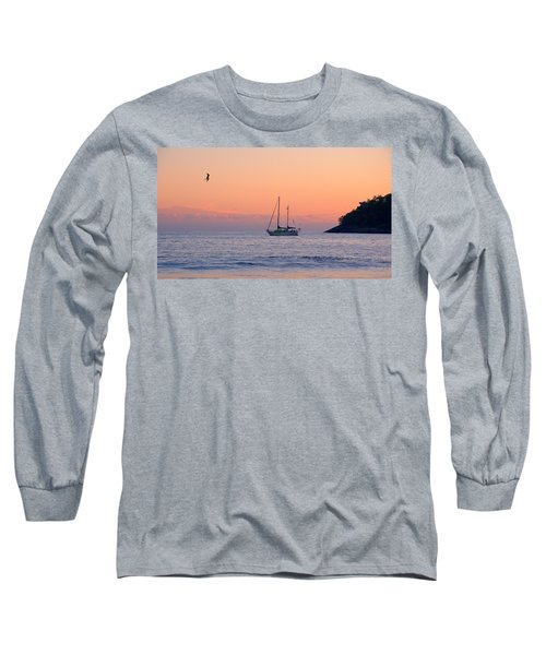 Safe Harbor Long Sleeve T-Shirt by Jim Walls PhotoArtist